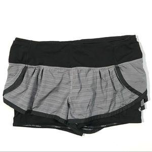 Lululemon Athletica Running Shorts Z4 Gray